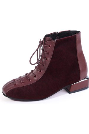 YOINS Lace-up Zip Martin Boots