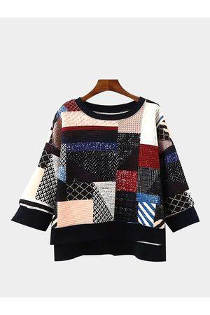 YOINS Patchwork Sweatshirt