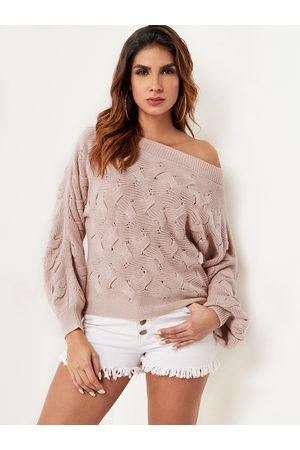 YOINS Twist Knitted One Shoulder Sweater