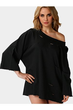 YOINS Women Sweatshirts - Loose Wide Sleeves Hollow Out Sweatshirt