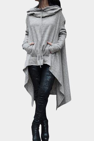 YOINS Hooded Design Long Sleeves Causal Kangaroo Pockets Hoodie
