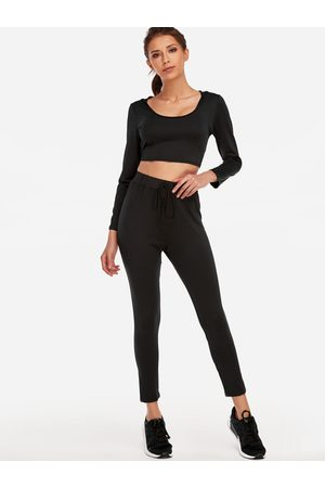YOINS Women Shoes - Active V-neck High-waisted Tracksuit in