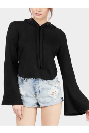 YOINS Women Hoodies - Flared Sleeves Drawstring Hoodie