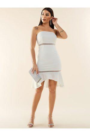 YOINS Lace Design Strapless Dress