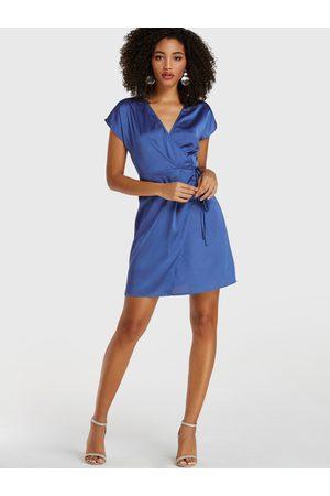 YOINS V-neck Tie-up Design Short Sleeves Wrap Dress