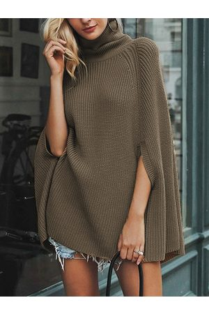 YOINS Turtleneck Long Sleeves Sweater Cape
