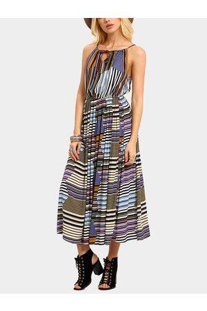 YOINS Women Maxi Dresses - Multi Color Summer Sleeveless Maxi Dress