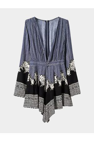 YOINS Women Long Sleeve - Deep V Neck Long Sleeve Playsuit