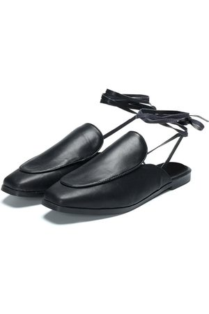 YOINS Leather Look Lace-up Design Slippers