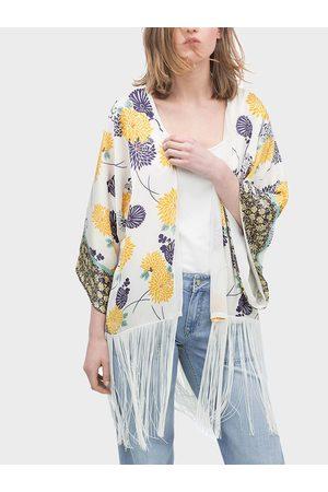 YOINS Summer Floral Print Tassel Kimono