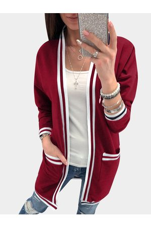 YOINS Two Large Pockets Long Sleeves Loose Cardigans