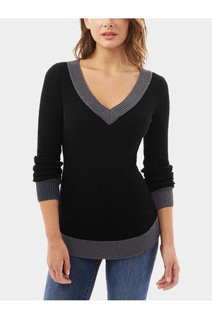 YOINS V-neck Long Sleeves Causal T-shirt