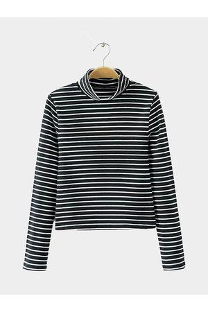 YOINS Simple Stripe Long Sleeve Top in