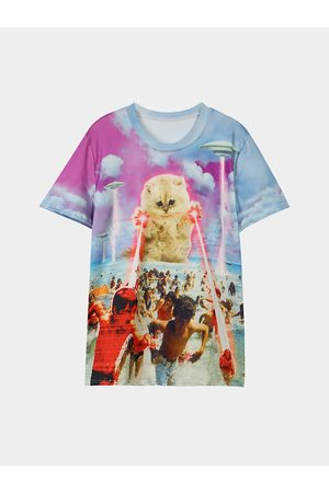 YOINS Animal Pattern Round Neck Loose T-shirts