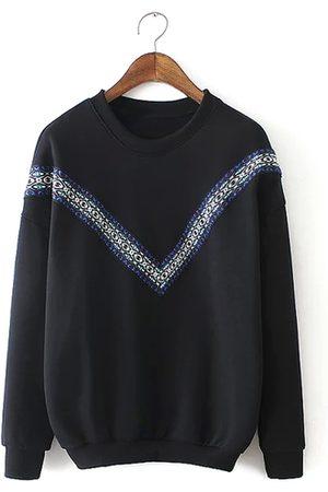 YOINS Embroidered Sweatshirt