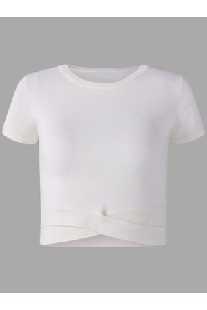 YOINS Active Round Neck Cut Out T-shrits in