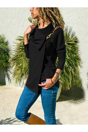 YOINS Double Layer Plain Long Sleeves Knit Top