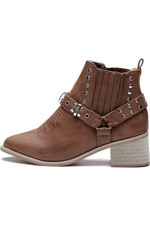 YOINS Light Studded Block Heel Ankle Boots
