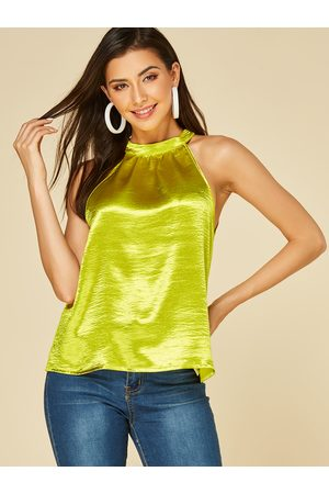 YOINS Tie-up Design Halter Sleeveless Tank Top