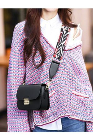 YOINS Plain CrossBody Bags With Plaid Braided Strap