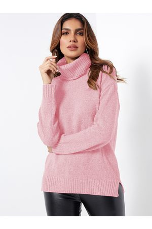 YOINS Roll Neck Knitted Pullover Jumper