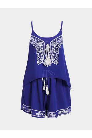 YOINS Ties With Tassel Cami & Stretch Waistband Short Sexy Co-ords