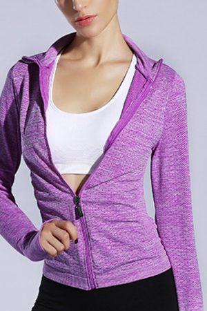 YOINS Active Lapel Collar Quick Drying Zip Design Windbreaker Jacket in