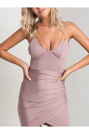 YOINS Sexy Backless Design Bodycon Mini Dress