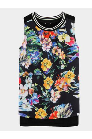 YOINS Split Side Top In Floral Print