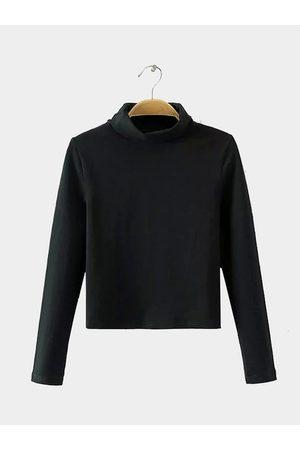 YOINS Simple Perkins Neck Long Sleeve Top