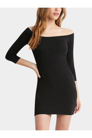 YOINS Wide Neck Bodycon Dress