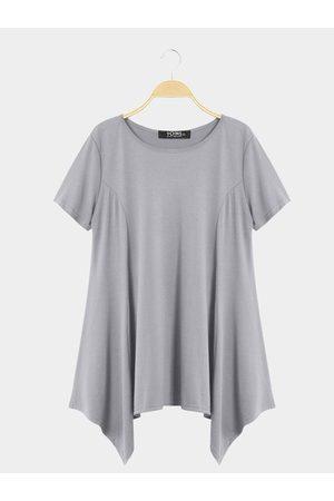 YOINS Casual Round Neck Swing Mini Dress