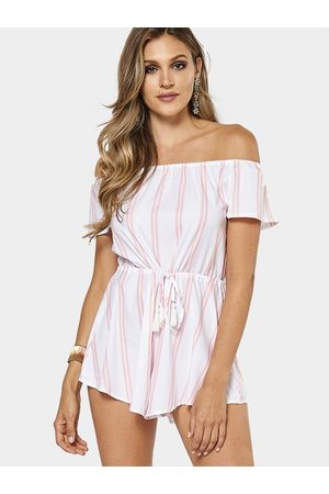 YOINS Sherbet Sweet Off-the-shoulder Short Sleeves Playsuit