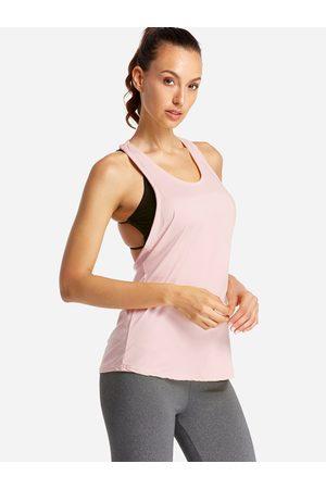 YOINS Backless Design Letter Scoop Neck Sport Camis