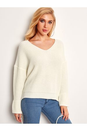 YOINS V-neck Winter Fashion Women Sweaters