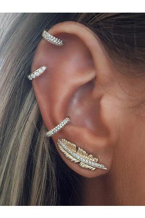 YOINS Rhinestone Leaf Shape Four-piece Earring Set