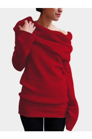 YOINS Pile Collar Long Sleeves Casual T-shirts
