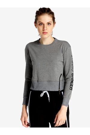 YOINS Zip Letter Printed Fashion Women Sweatshirt
