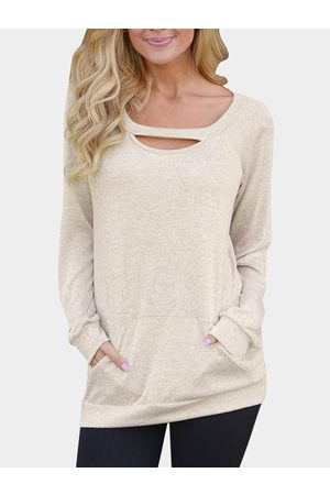 YOINS Cut Out Round Neck Long Sleeves Top