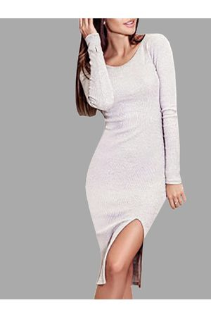 YOINS Long Sleeves Bodycon Side Slit Dress