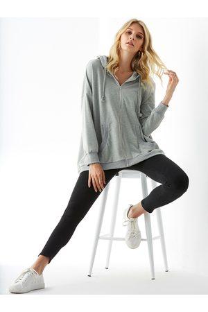 YOINS Pocket Design Zip Front Long Sleeves Hoodie