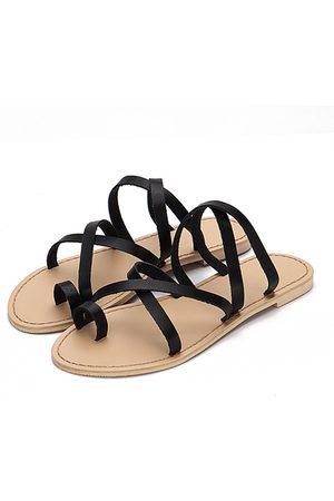 YOINS Cross Straps Fashion Style Flat Slippers
