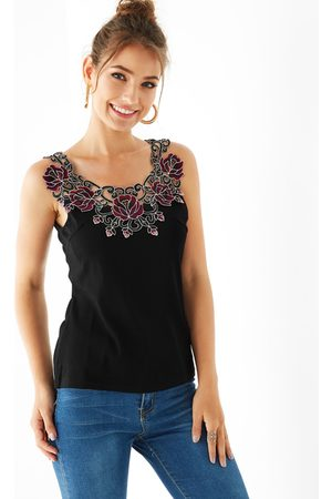 YOINS Floral Embroidered Lace Cami