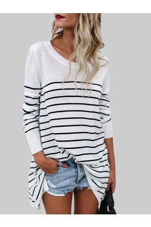 YOINS Stripe Long Sleeves Fashion T-shirt