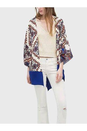 YOINS Vintage Geometrical Print Loose Kimono