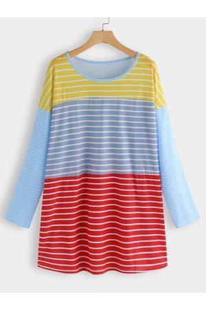 YOINS Colorful Stripe Tee