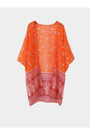 YOINS Bright Floral Print Kimono