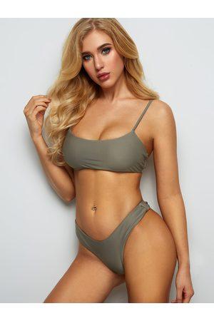 YOINS Scoop Neck Spaghetti Sleeveless Bikini