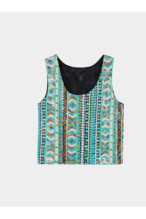 YOINS Light Crop Vest With Sequins