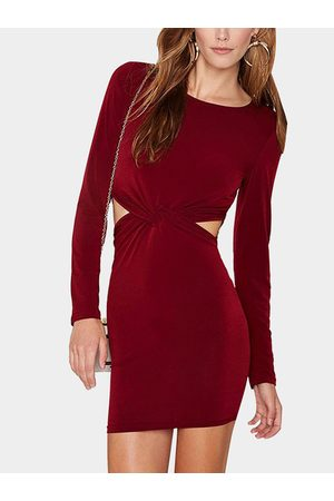 YOINS Knot Front Cutout Party Dress in